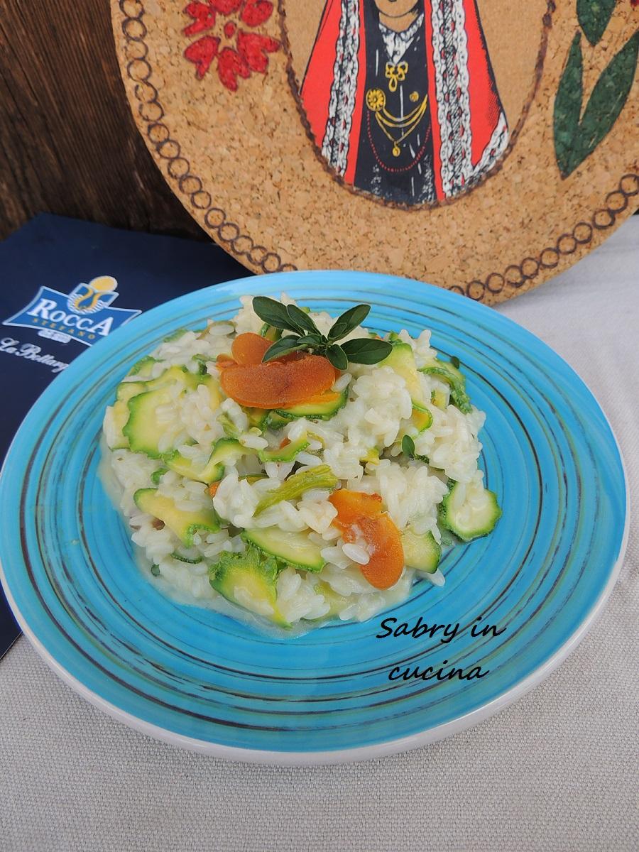 risotto zucchine e bottarga