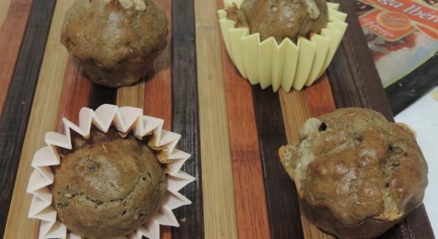 muffins integrali al crudo e provolone