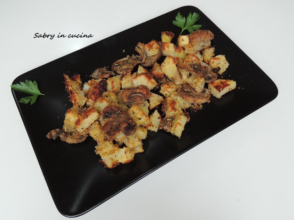 patate e funghi sabbiati
