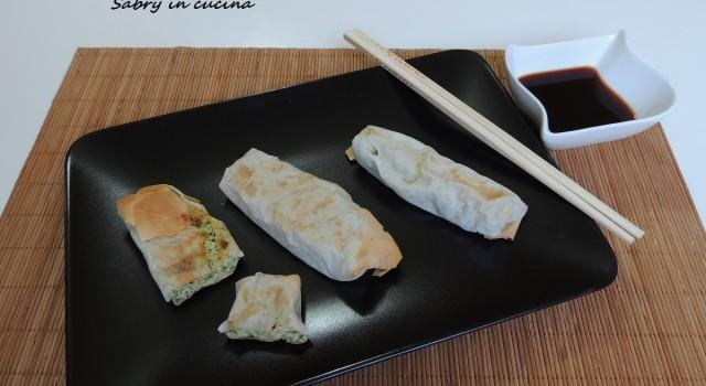 involtini croccanti zucchine e tofu