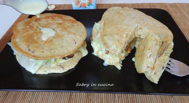 pancakes vegani al seitan e anacardi