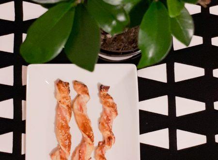 Intrecci di sfoglia e bacon