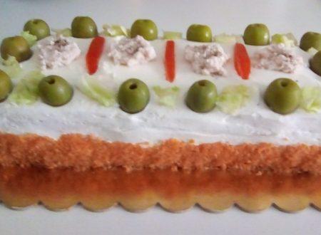 Torta di Tramezzini Colorata