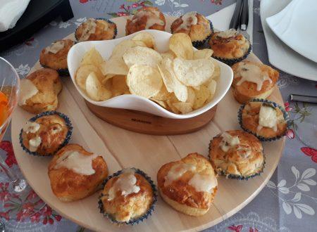 Muffin salati con Gorgonzola e Salame