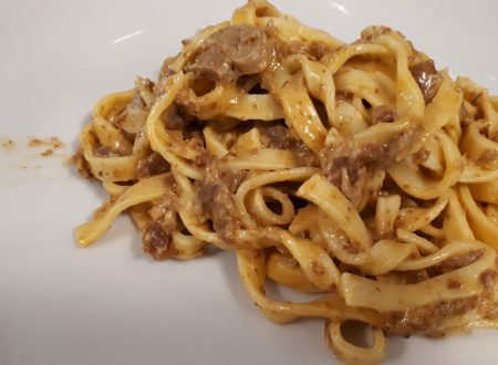 Fettuccine Funghi, Speck e Zafferano