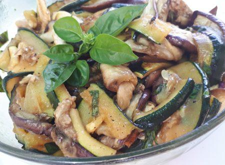Insalata di melanzane e zucchine grigliate – Ricetta Light