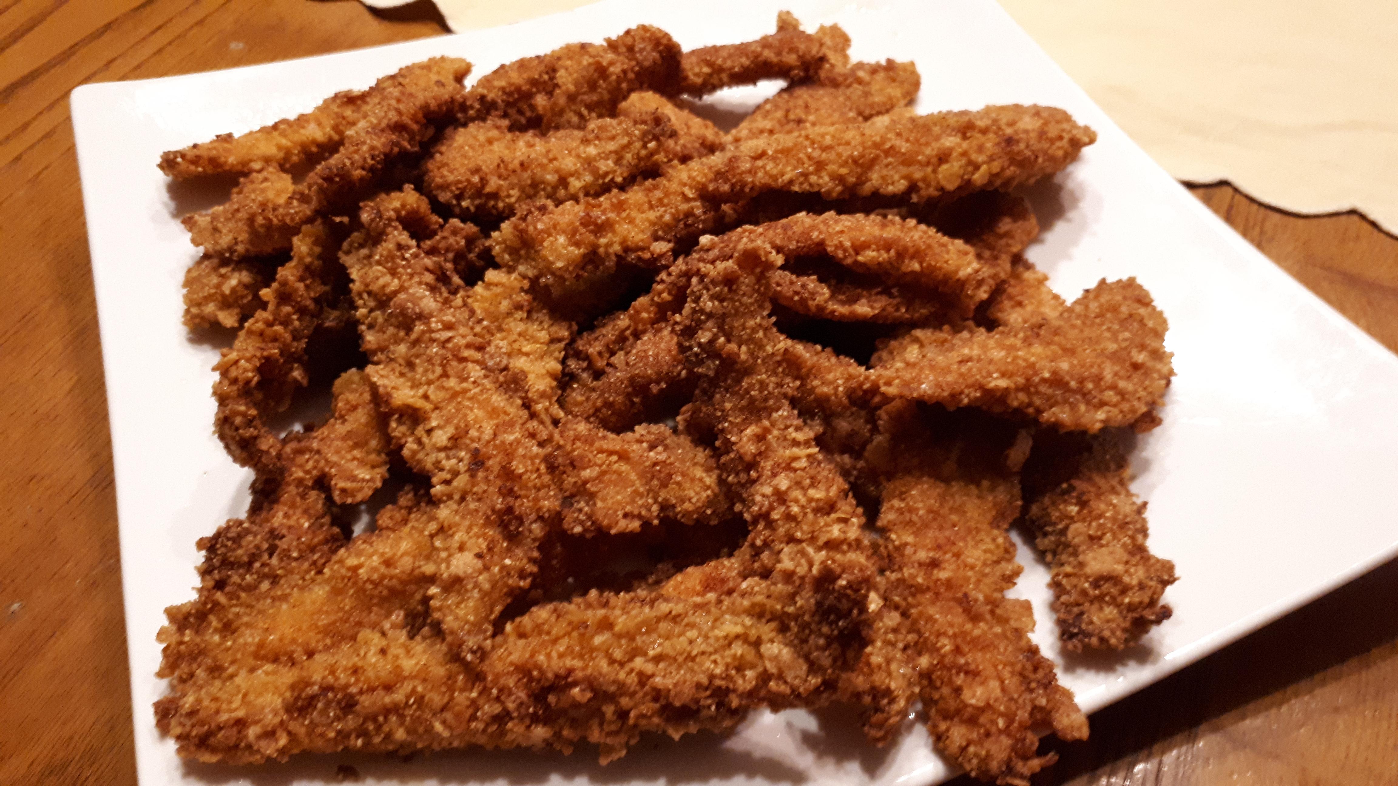 Stick di pollo e paprika con panatura ai corn flackes