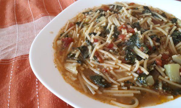Pasta con gli Sparacelli (Broccoletti) a minestra – Ricetta Siciliana