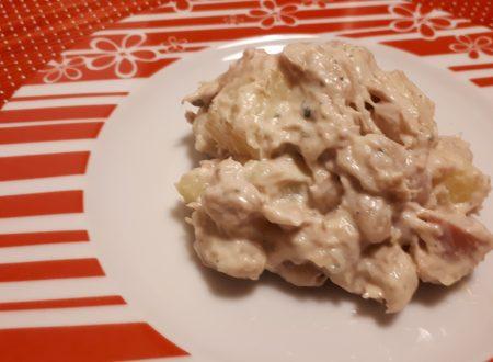 Insalata di cannellini, patate, tonno e maionese