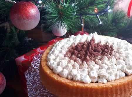 Crostata morbida con cioccolato e panna al pistacchio