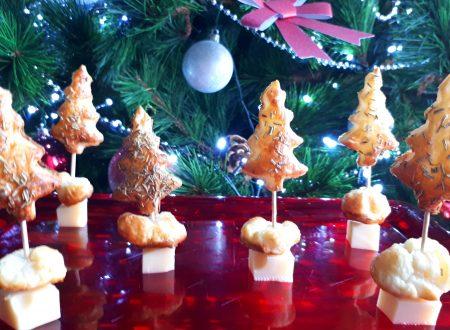 Alberi di Natale al rosmarino con emmental