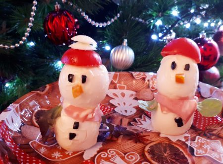 Pupazzi di neve salati – Antipasti natalizi