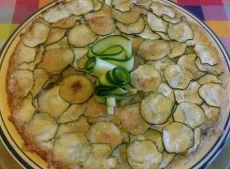 Torta salata con patate e Zucchine senza uova