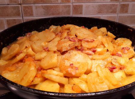 Patate zucca rossa e pancetta – Contorno invernale