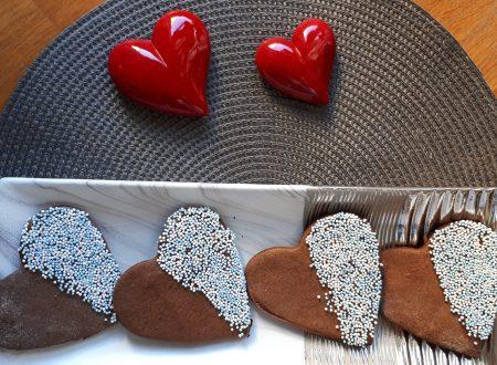 Biscotti al cacao di San Valentino