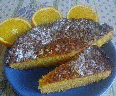 Torta dolce di polenta e limoncello