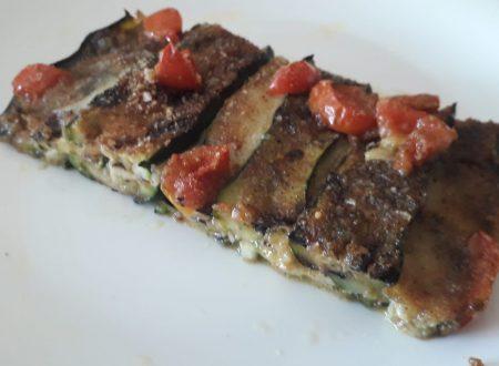 Parmigiana di zucchine al pesto genovese