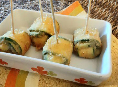 Fagottini di zucchine e mozzarella