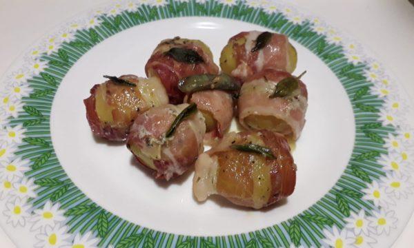Patate novelle con bacon e aromi