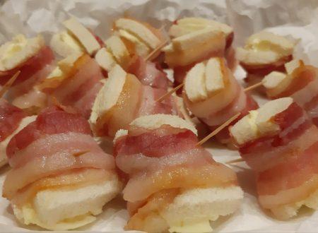 Stuzzichini di pancetta e philadelphia