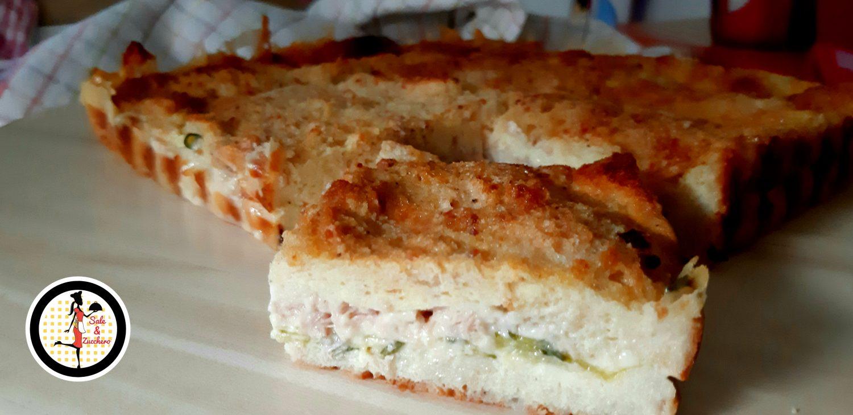 Torta di pancarrè con zucchine tonno e formaggio