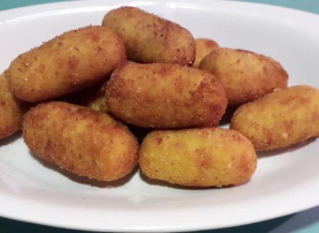 Croccotti di patate con prosciutto e zafferano