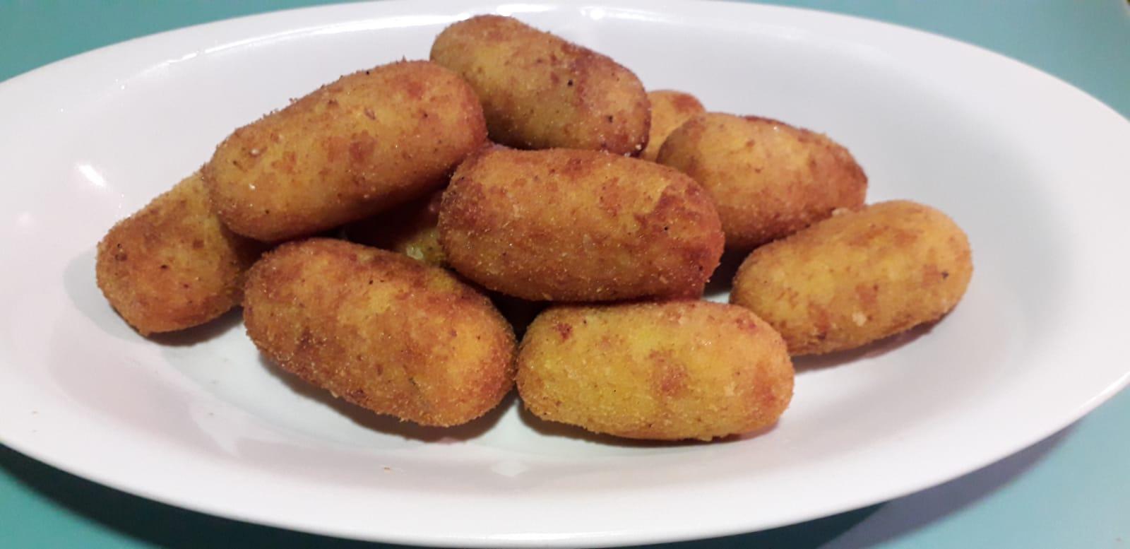 Croccotti - Crocchette di patate con prosciutto e zafferano