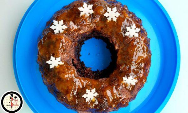 Ciambella al cioccolato con marmellata di albicocche