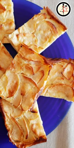 Torta di mele in teglia - Senza lievito