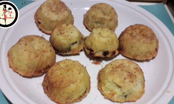 Tortini di patate e funghi con cuore filante