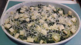 Sformato di patate spinaci e fontina