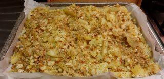 Patate gratinate al forno con mollica croccante