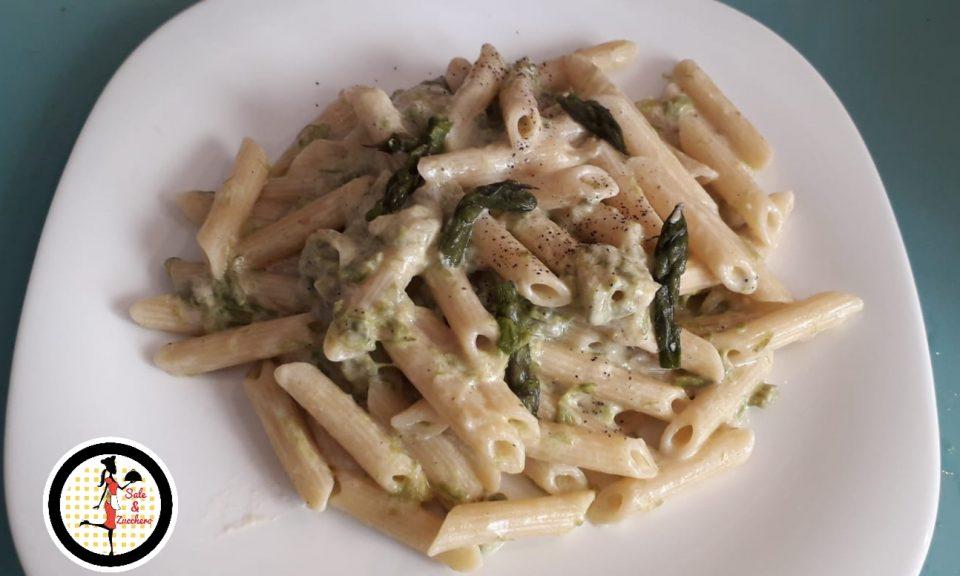 Penne alla crema di formaggi e asparagi