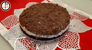 Cheesecake con ricotta cioccolato e wafer