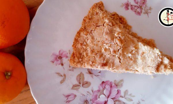 Torta sbrisolona con marmellata di arance