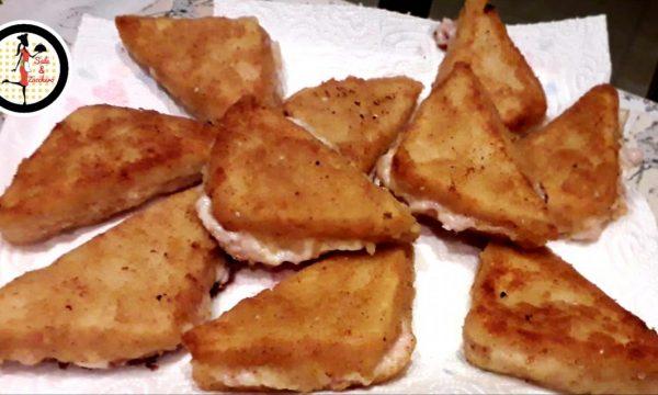 Crostini con prosciutto e mozzarella – Rosticceria siciliana