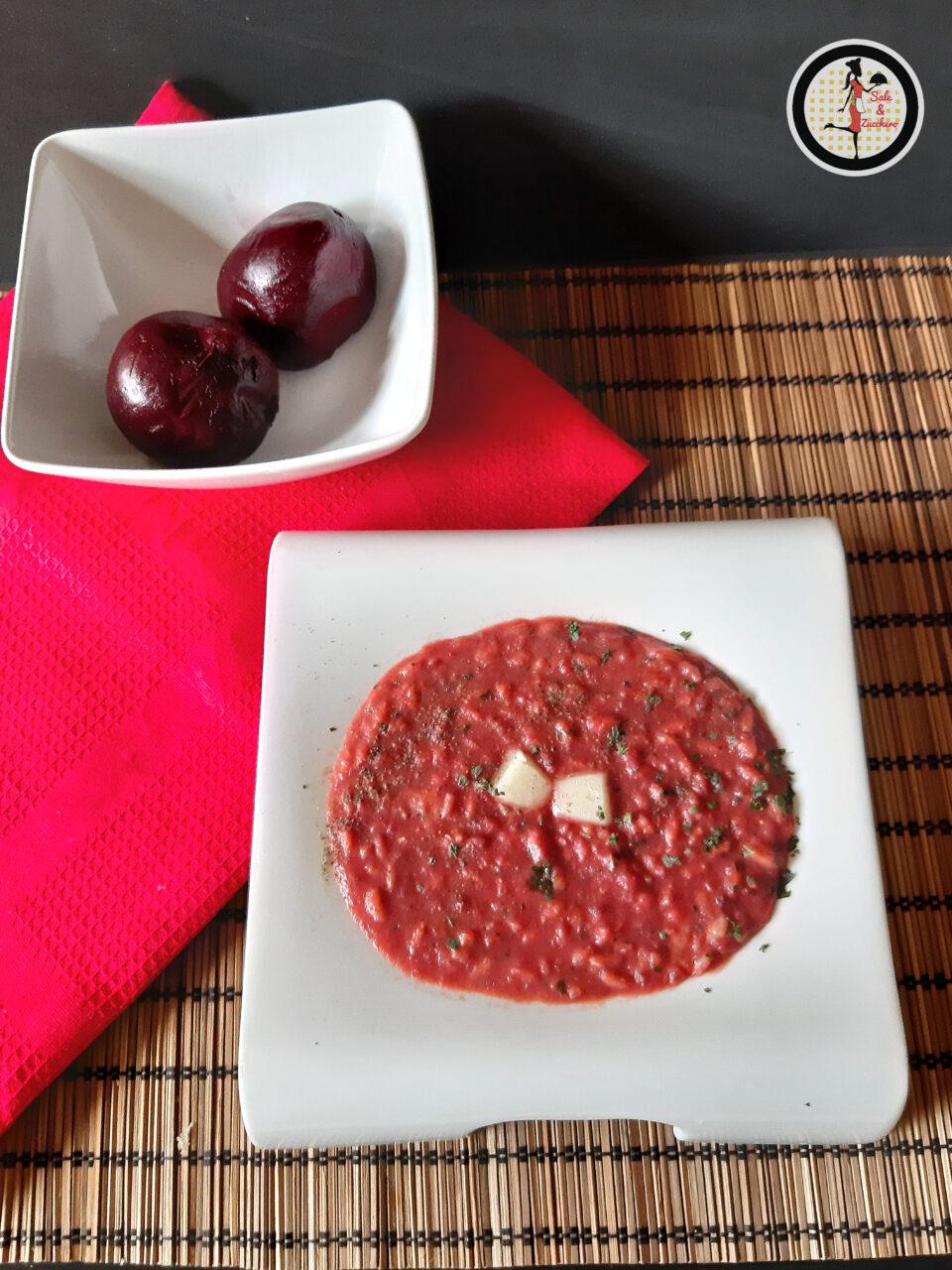 Risotto con barbabietole rosse e pecorino sardo
