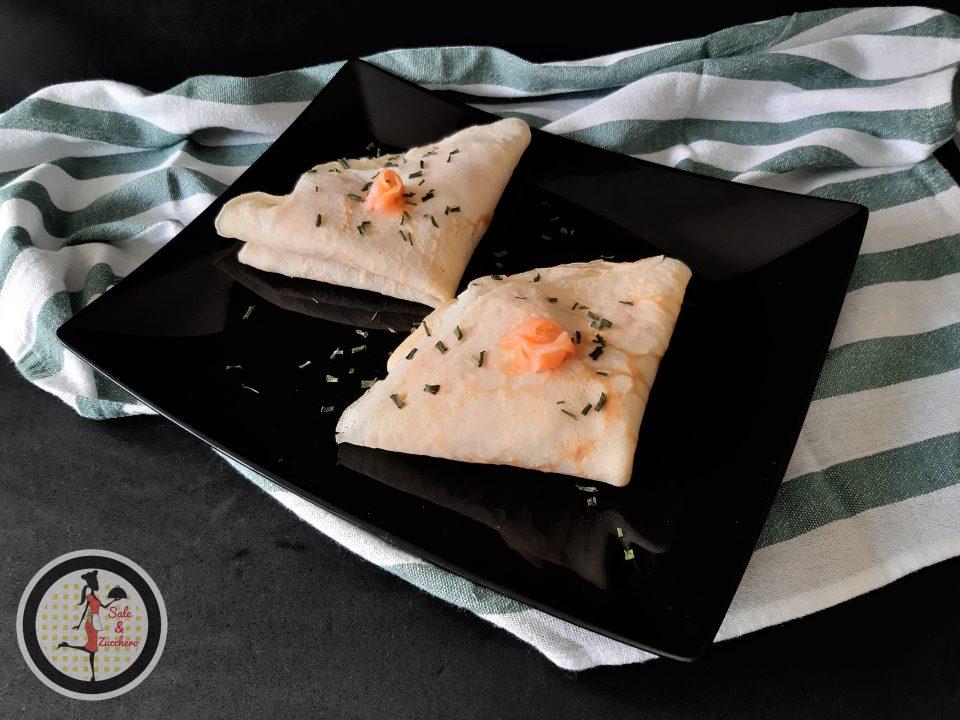Crepes con salmone affumicato