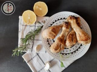Fusi di pollo aromatizzati in padella
