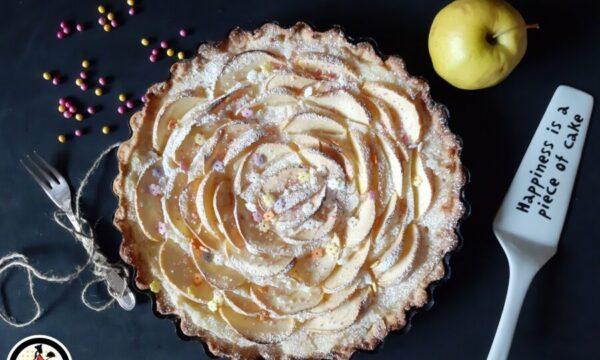 Crostata di mele e crema al limone