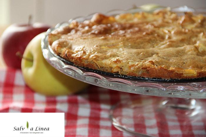 Torta di mele light (280 calorie a porzione)