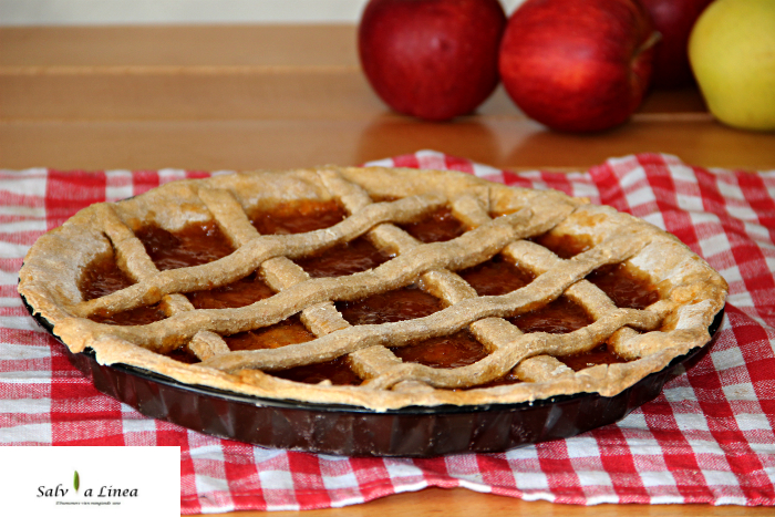 Crostata integrale di mele (87 calorie per fetta)