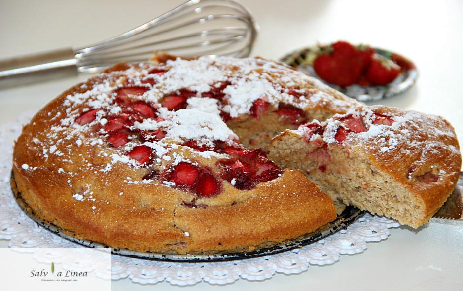 Torta light ricotta e fragole (170 calorie)