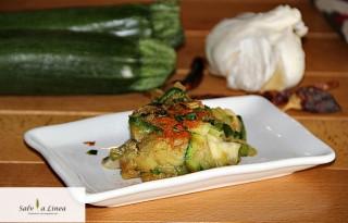 Zucchine aglio olio e peperoncino (73 calorie a porzione)