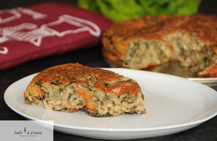 Torta 7 vasetti ricotta e spinaci (150 calorie)