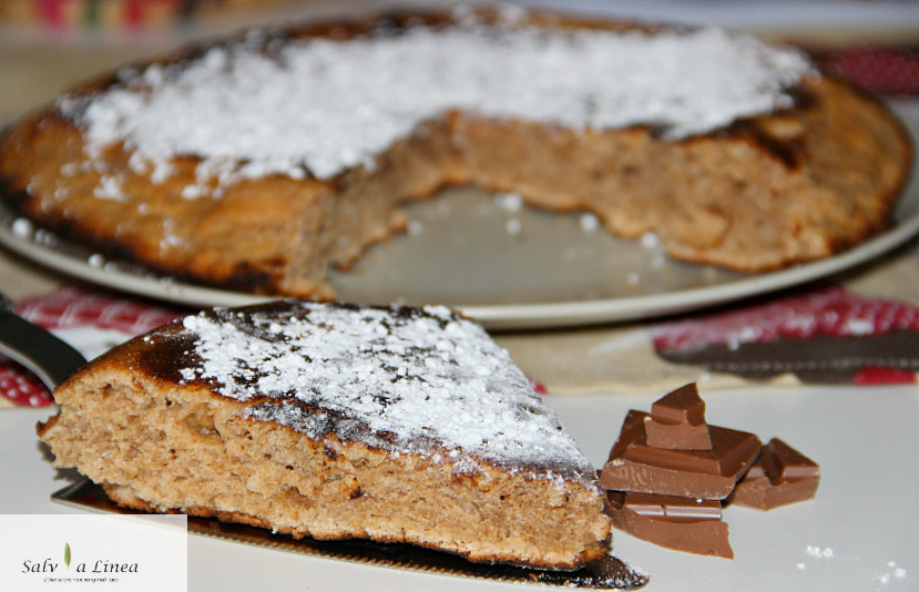 Torta facilissima in padella (163 calorie a porzione)