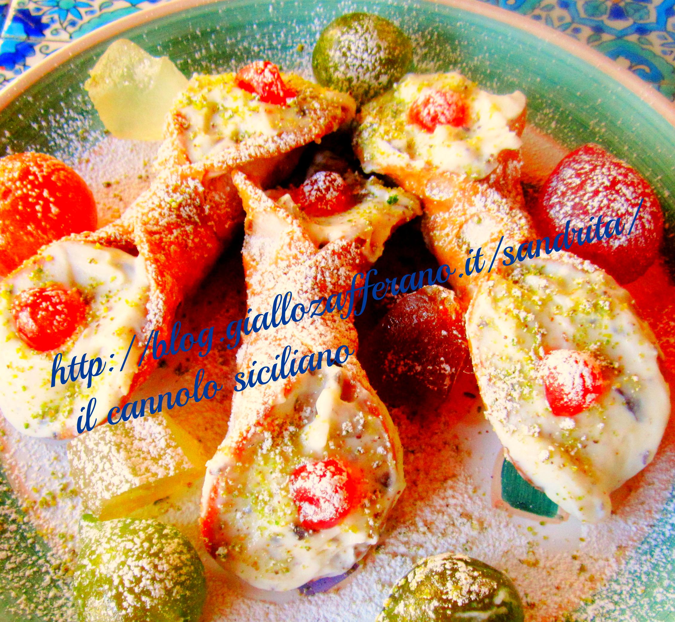 il cannolo siciliano nella cucina di alessandra