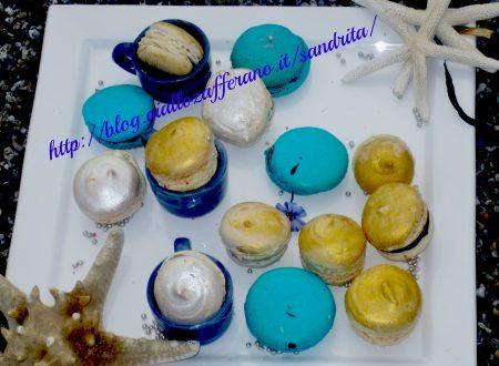 Macarons . ganache al cioccolato bianco ricetta