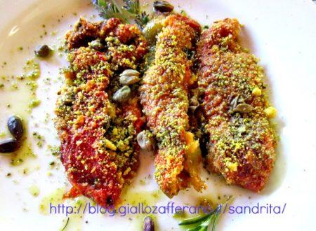 Peperoni al forno gratinati ricetta |Ricette vegetariane |  Il fantastico mondo di Alessandra
