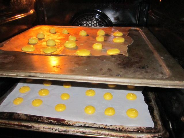 macarons nel forno